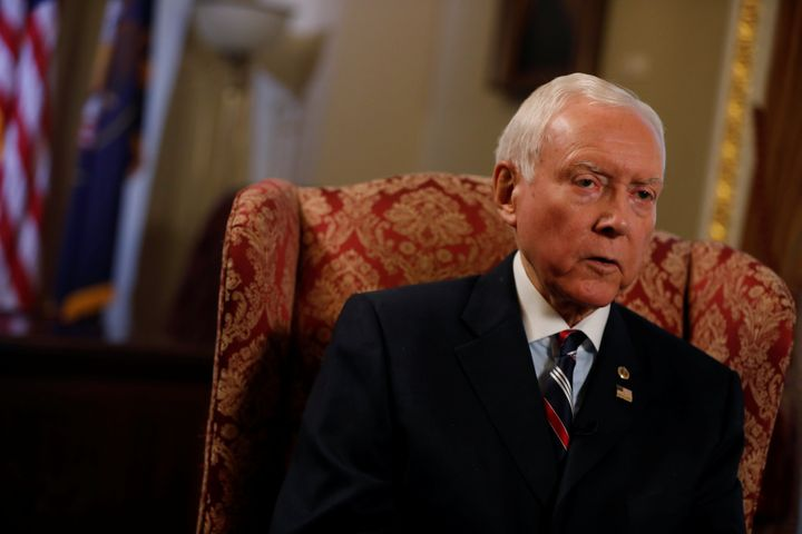 Senator Orrin Hatch (R-UT), Chairman of the Senate Finance Committee, is seen during an interview on Capitol Hill in Washingt