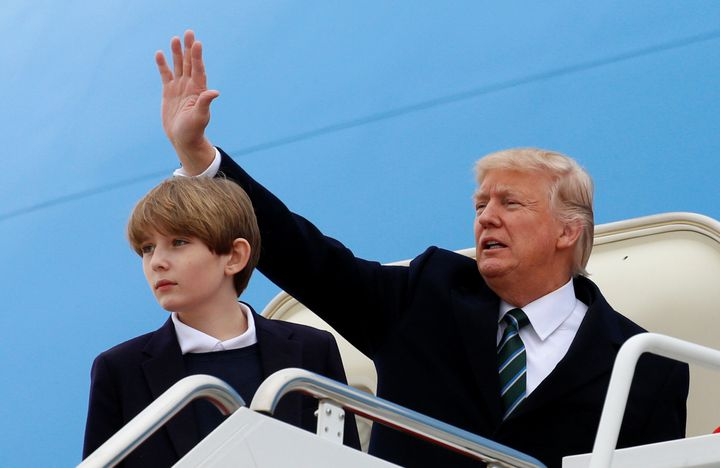 President Donald Trump and his son Barron. A series of books written in the late 19th century by Ingersoll Lockwood conc