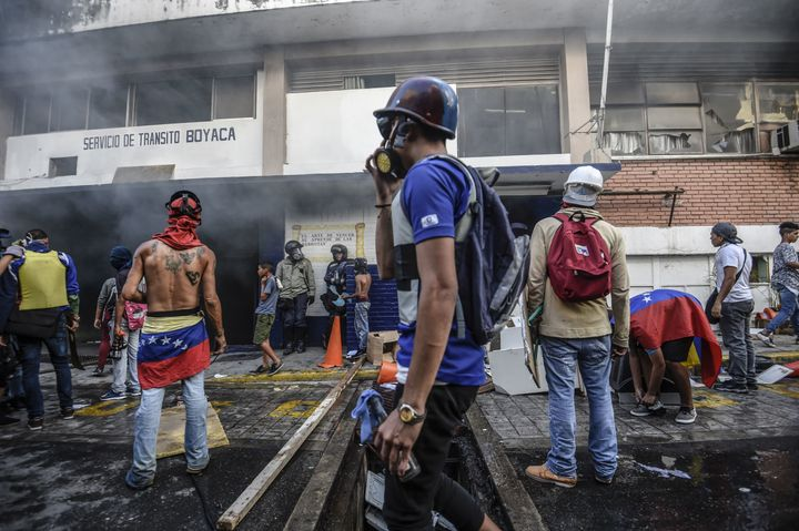 Violent protests erupted in response to the controversial Constituent Assembly vote. Caracas. July 30, 2017.