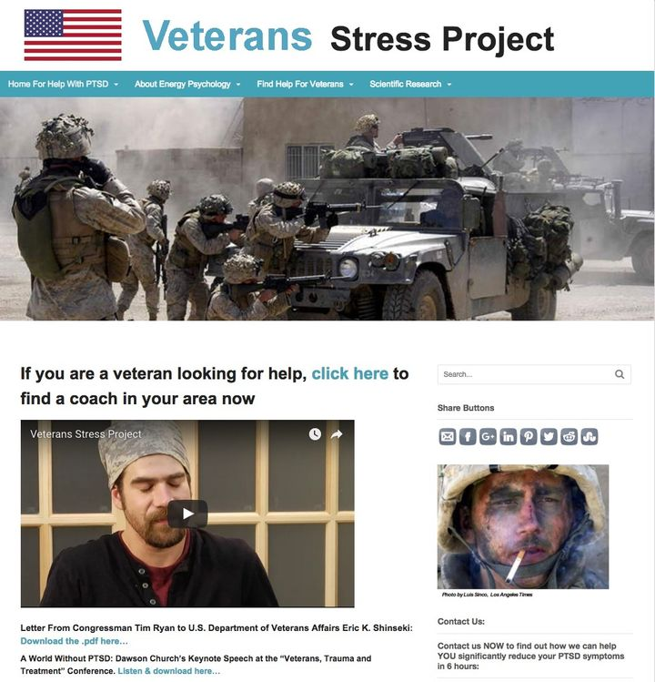 <p>The web site of the Veterans Stress Project connects EFT practitioners with veterans suffering from PTSD.</p>