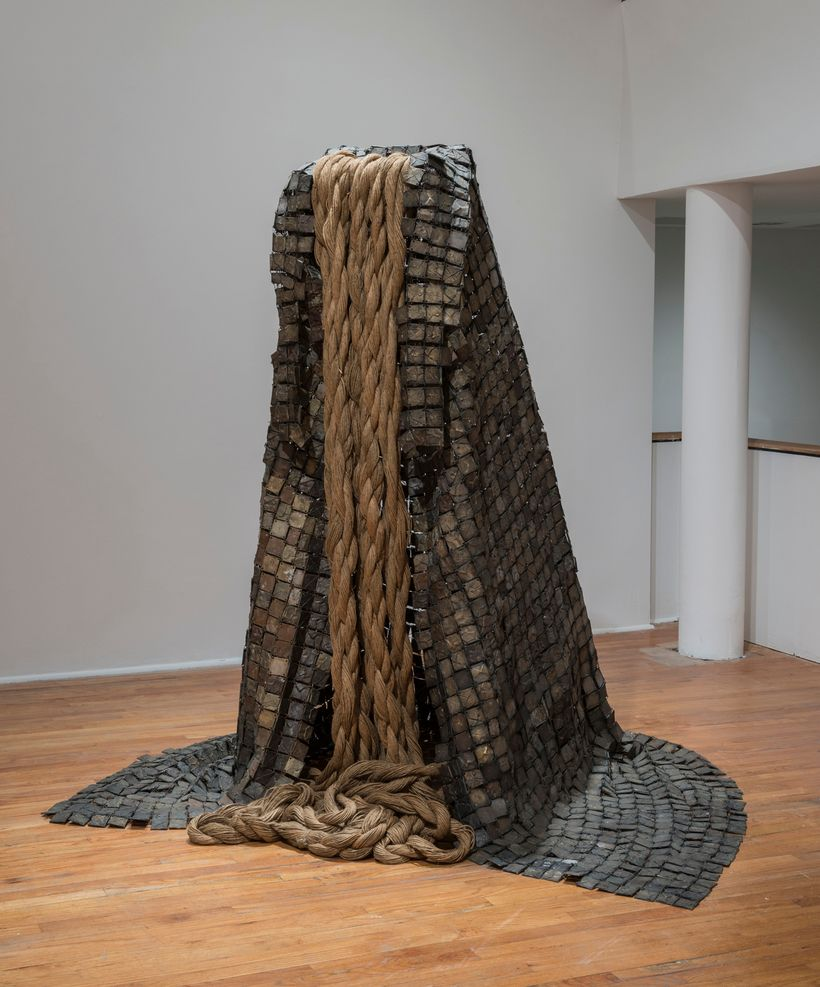 """Barbara Chase-Riboud, """"The Cape (Le Maneau),"""" 1973, The Studio Museum in Harlem; gift of the Lannan Foundation, 1998.7.4, Cou"""