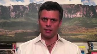 Opposition leader Leopoldo Lopez gives a message at this house in Caracas on July 26, 2017. Lopez, placed under house arrest earlier this month after nearly three and a half years in a military prison, made the appeal hours before the start of a 48-hour general strike against the leftist government of President Nicolas Maduro. / AFP PHOTO / Leopoldo LOPEZ / The erroneous mention[s] appearing in the metadata of this photo by Leopoldo LOPEZ has been modified in AFP systems in the following manner: [on July 26, 2017] instead of [on July 25, 2017]. Please immediately remove the erroneous mention[s] from all your online services and delete it (them) from your servers. If you have been authorized by AFP to distribute it (them) to third parties, please ensure that the same actions are carried out by them. Failure to promptly comply with these instructions will entail liability on your part for any continued or post notification usage. Therefore we thank you very much for all your attention and prompt action. We are sorry for the inconvenience this notification may cause and remain at your disposal for any further information you may require.        (Photo credit should read LEOPOLDO LOPEZ/AFP/Getty Images)