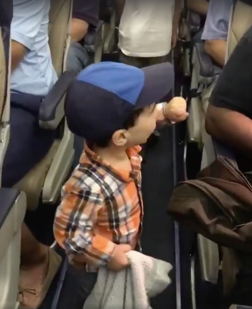 Toddler Insists On Personally Greeting Every Passenger As He Boards A