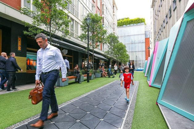 Power-Harvesting High Street Turns Footsteps Into