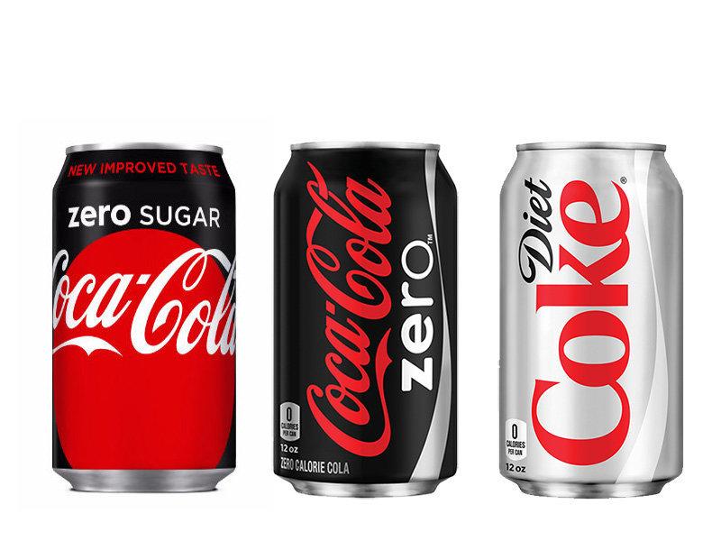 Here's The Difference Between Diet Coke, Coke Zero And Coke Zero