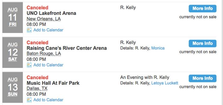 A screenshot from Ticketmaster's website.