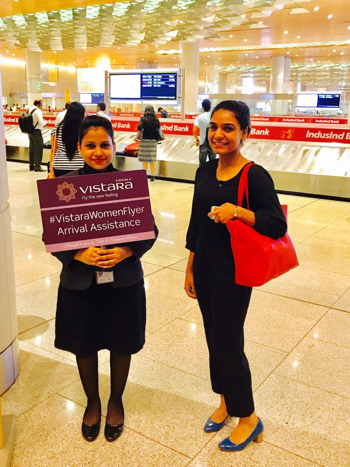 As part of the program, Vistara assists women traveling alone with booking seats, accessing baggage and safe transportation a