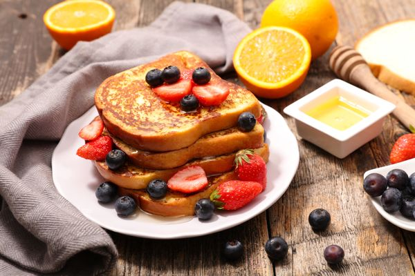 French toast is what you do with stale bread. We'll just let you think on that for a minute.