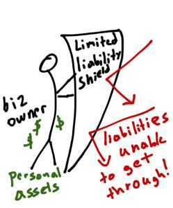 "The limited liability shields personal assets from the company's financial obligations. (<a rel=""nofollow"" href=""https://hawa"