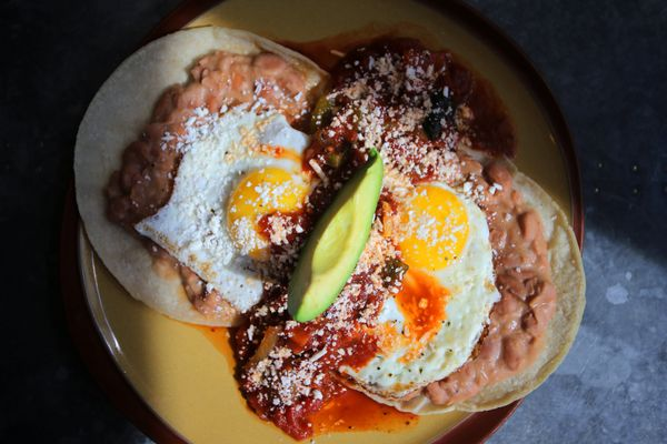 You can judge a brunch spot on how good their huevos rancheros are. This dish spices up the otherwise (let's be honest) bland