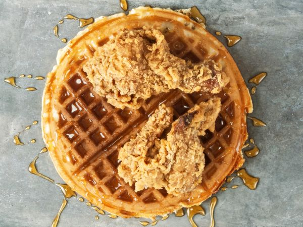 Everything we said above about waffles, plus fried chicken. All kinds of yes.