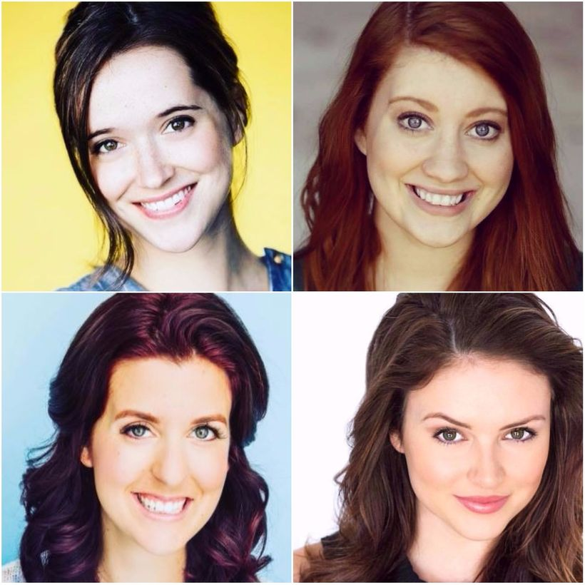 Clockwise from top left: Brooke Culbertson, Kaylee Johnson, Kelsey Griswold, Claire Liz Phillips
