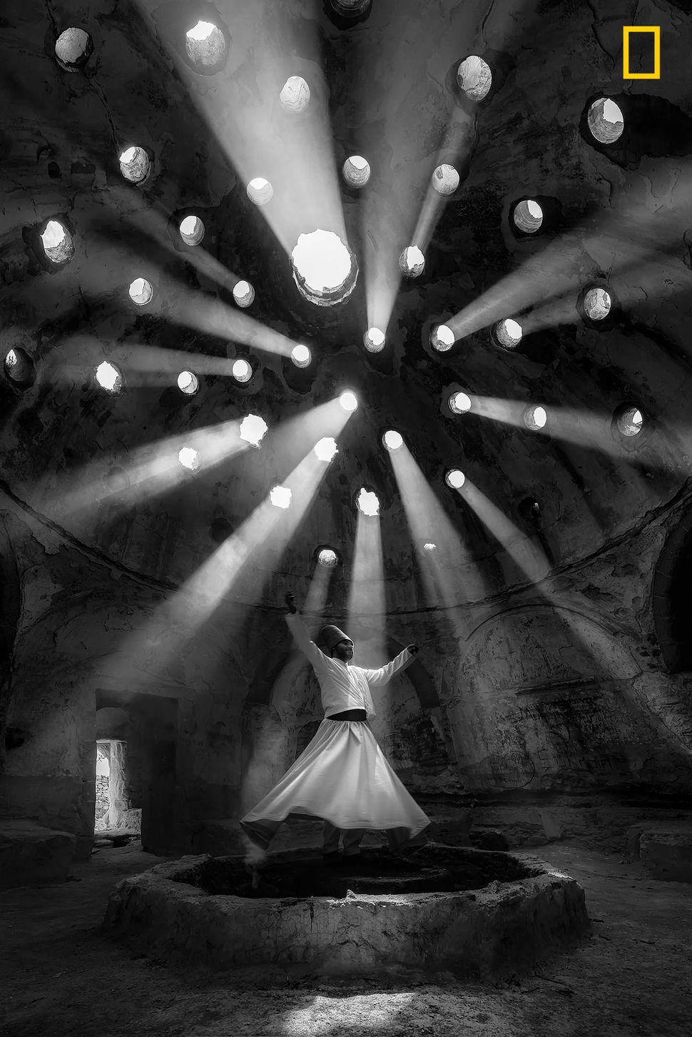 """Willing Dervish in an historical place of Sille Konya, Turkey. The 'dance' of the whirling dervishes is called sema and"