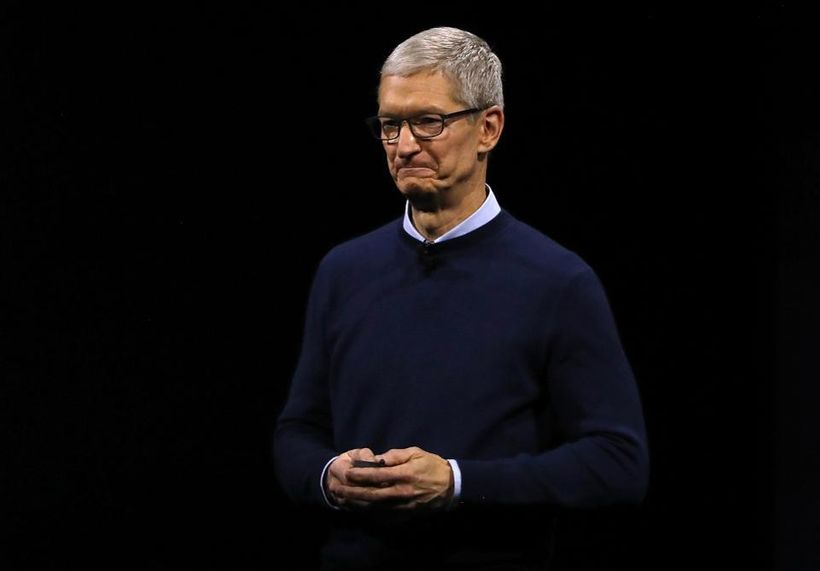 Apple CEO Tim Cook delivers the opening keynote address the 2017 Apple Worldwide Developer Conference (WWDC) at the San Jose