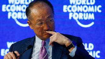 "Jim Yong Kim, President of the World Bank attends the session ""The New Climate and Development Imperative"" during the Annual Meeting 2016 of the World Economic Forum (WEF) in Davos, Switzerland January 21, 2016. REUTERS/Ruben Sprich"