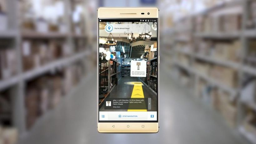 AR application created with Google Tango, available on new Pixel, Lenovo and Asus phones.