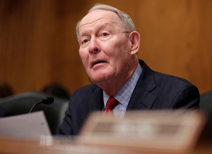 Chairman of the Senate Health, Education, Labor and Pensions Committee Lamar Alexander speaks during Rep. Tom Price's (R-GA)