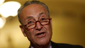 Senate Minority Leader Chuck Schumer speaks with the media about the recently withdrawn healthcare bill on Capitol Hill in Washington, U.S., July 18, 2017. REUTERS/Aaron P. Bernstein