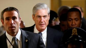 Special Counsel Robert Mueller departs after briefing members of the U.S. Senate on his investigation of potential collusion between Russia and the Trump campaign on Capitol Hill in Washington, U.S., June 21, 2017.   REUTERS/Joshua Roberts
