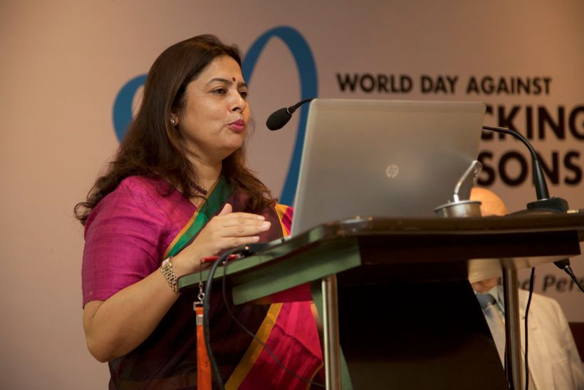 Ms. Meenakshi Lekhi, Member of Parliament (Lok Sabha), India, delivering the special address at the occasion.