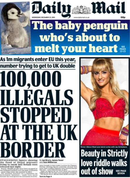 The Mail's fears over '100,000 illegals stopped at the UK