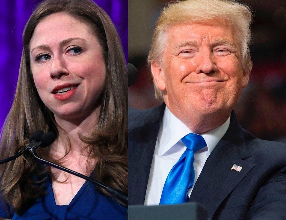Chelsea Clinton and Donald Trump