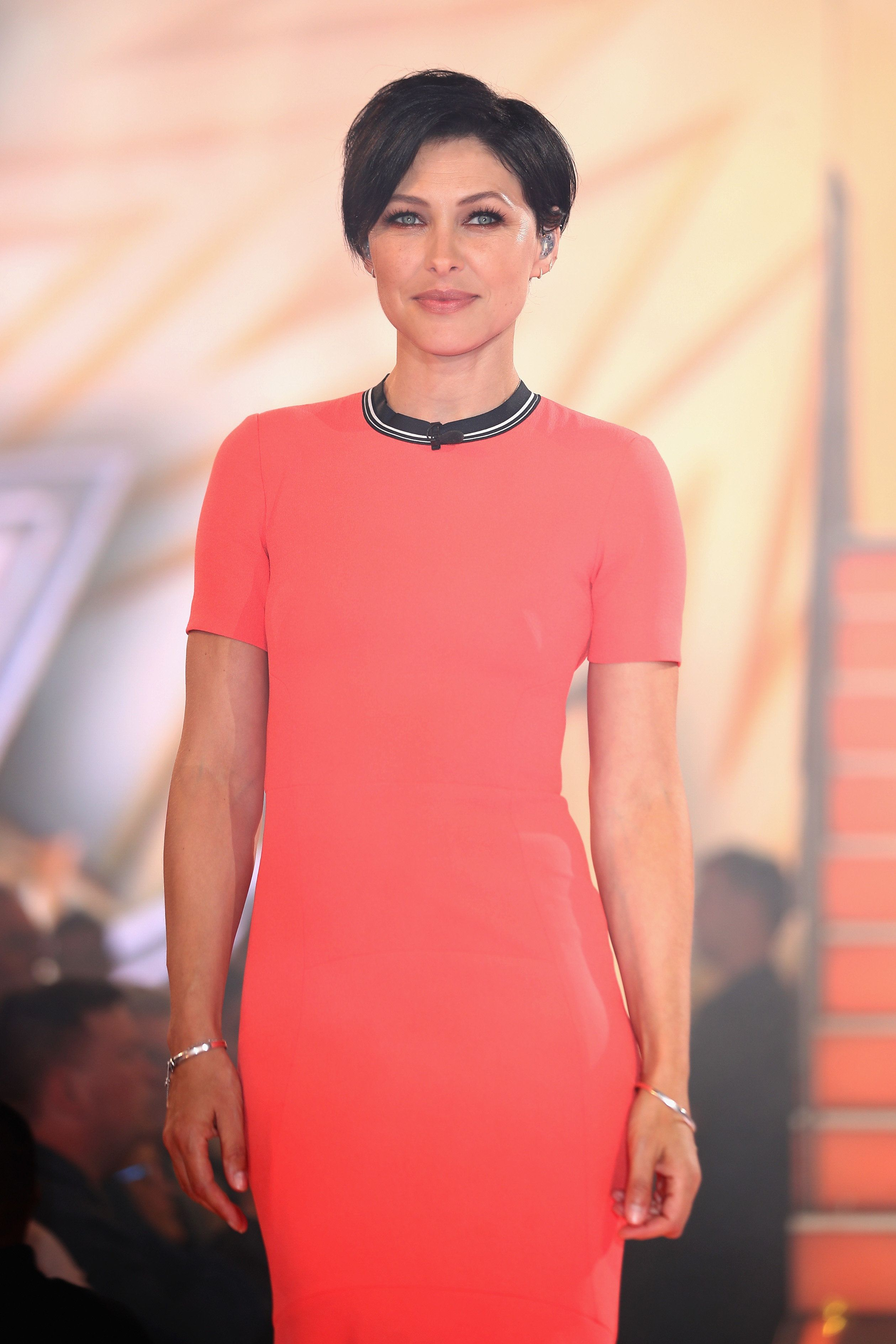 The Internet Lusts After Emma Willis' Coral Dress For 'Celebrity Big Brother' Launch