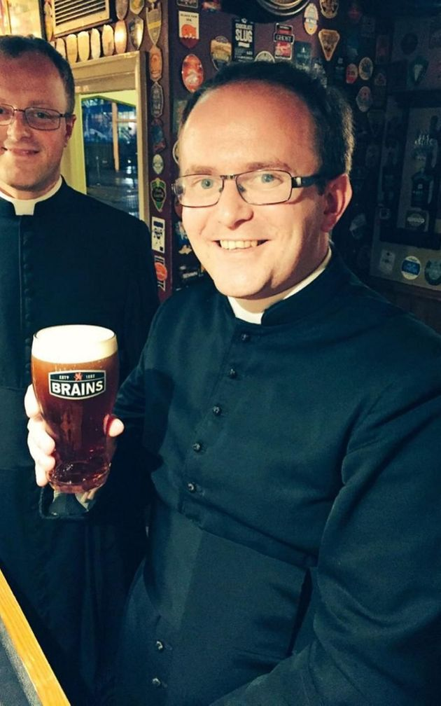 Thankfully the priests were beckoned back to the pub and given a round on the