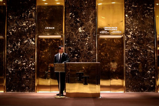Trump Tower features four gold