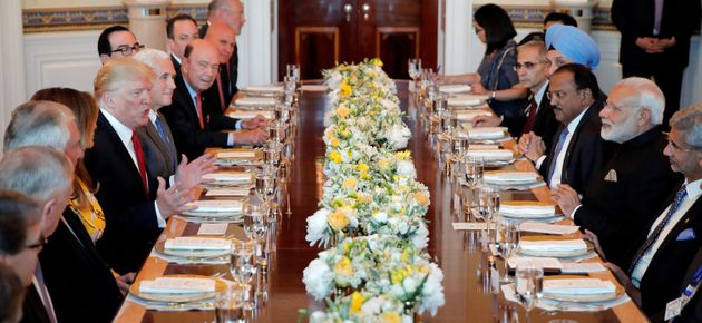 Trump entertaining Indian Prime Minister Narendra Modi at a White House