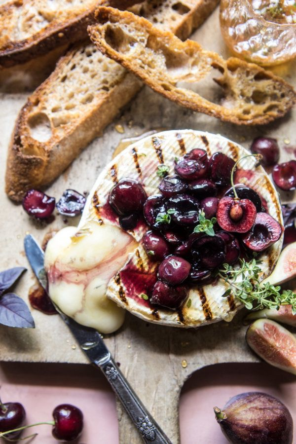 "<strong>Get the <a href=""https://www.halfbakedharvest.com/honey-thyme-sweet-cherry-grilled-brie/"" target=""_blank"">Honey, Thym"