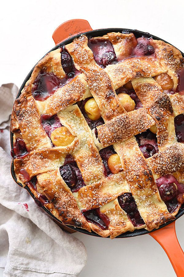 "<strong>Get the <a href=""http://www.foodiecrush.com/skillet-cherry-pie/"" target=""_blank"">Skillet Cherry Pie recipe</a> f"