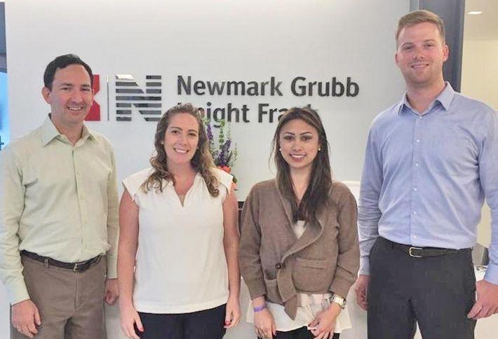 <em>NKF's research team of Sandy Paul, Bethany Schneider, Natasha Flores and Alex Shirokow-Louden</em>