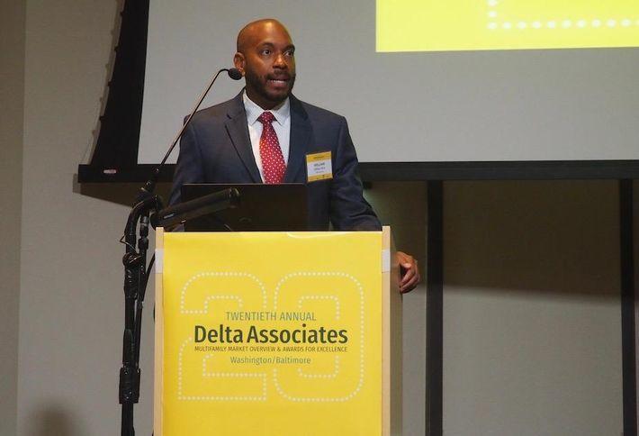 <em>Delta Associates President Will Rich at an event in 2016</em>