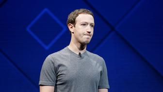 Facebook Founder and CEO Mark Zuckerberg speaks on stage during the annual Facebook F8 developers conference in San Jose, California, U.S., April 18, 2017. REUTERS/Stephen Lam
