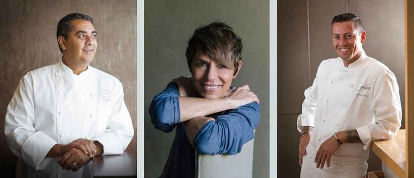 Michelin star chefs Michael Mina, Dominique Crenn and Curtis Duffy will cook together at the Lazy Goat during Greenville's Eu