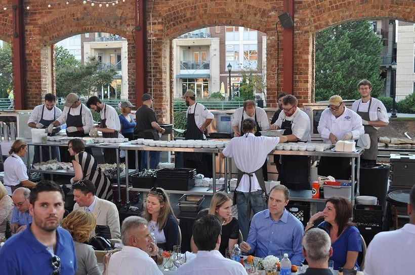 Many Euphoria Greenville events feature chefs from throughout the south cooking in the same kitchen.