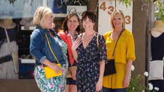 Bridget Everett, Molly Shannon, Katie Aselton and Toni Collette appear in <i>Fun Mom Dinner</i> by Alethea Jones, an official selection of the Premieres program at the 2017 Sundance Film Festival. Courtesy of Sundance Institute | photo by Robb Rosenfeld.