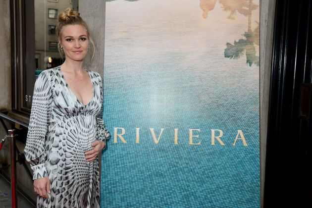 Julia Stiles has finally shared a personal photo of her pregnant belly after not speaking publicly about...