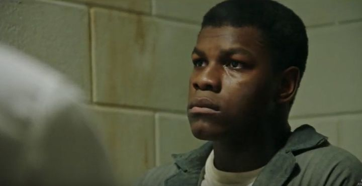 "John Boyega in a scene from ""Detroit."""