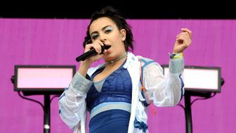 GLASTONBURY, ENGLAND - JUNE 23:  Charli XCX performs on The Other stage on day 2 of the Glastonbury Festival 2017 at Worthy Farm, Pilton on June 23, 2017 in Glastonbury, England.  (Photo by Shirlaine Forrest/WireImage)