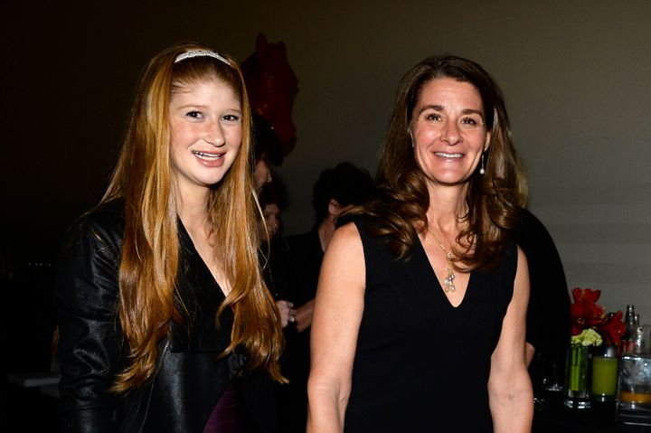 Gates with her oldest daughter, Jennifer, in 2013.