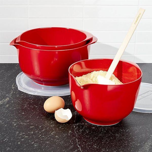 """<a href=""""https://www.crateandbarrel.com/rosti-retro-green-melamine-mixing-bowls-with-lids-set/s173018?a=1552&campaignid=6"""