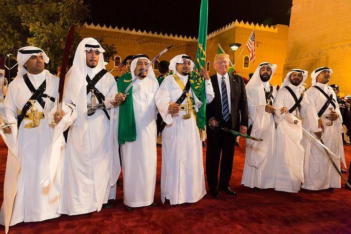 "U.S. President Donald Trump and Saudi King Salman in Riyadh, <a rel=""nofollow"" href=""https://en.wikipedia.org/wiki/File:Donal"
