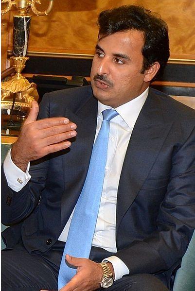"""Qatar's ruler, Emir Tamim Al Thani, <a rel=""""nofollow"""" href=""""https://commons.wikimedia.org/wiki/File:Tamim_bin_Hamad_Al_Thani_"""
