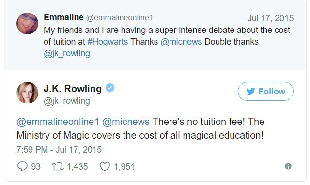 Rowling apologises over Trump tweets