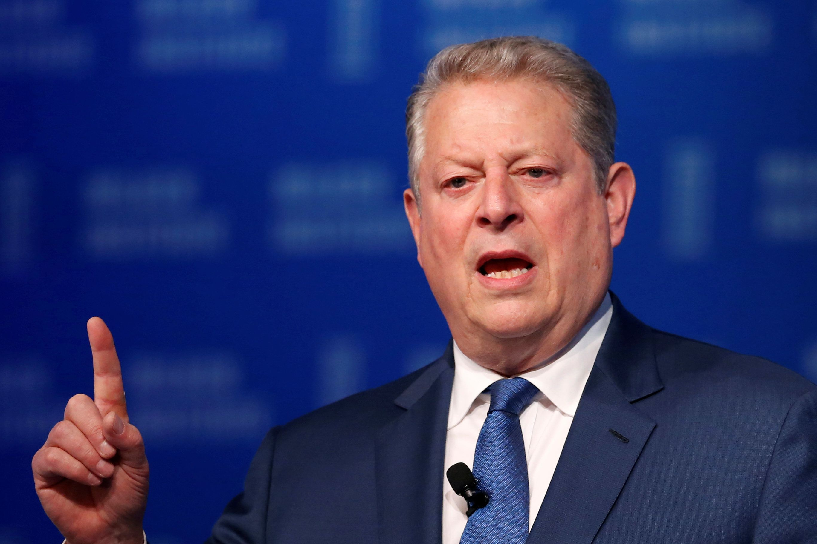 Al Gore, Chairman of Generation Investment Management, speaks at the Milken Institute Global Conference in Beverly Hills, California, U.S., May 2, 2016. REUTERS/Lucy Nicholson