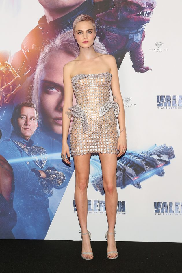Cara Delevingne Takes The Nearly-Naked Trend To An Intergalactic Level At 'Valerian'
