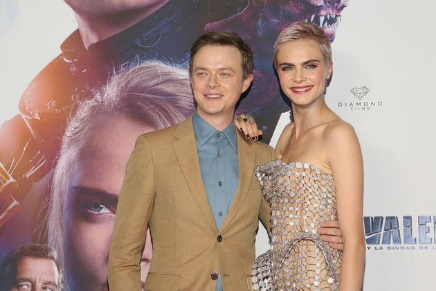 Actor Dane DeHaan and actress Cara Delevingne attend the 'Valerian And The City Of A Thousand Planets'...