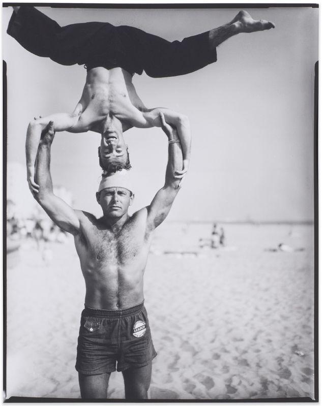 Larry Silver, <em>Headstand, Muscle Beach, Santa Monica</em> (1954), Gelatin silver perint, 2016.03.02